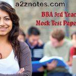 BBA 3rd Year 604 International Trade Examination Sample Model Mock Test Paper 2014