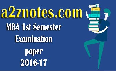 MBA 1st Year Examination Papers Business Statistics 2016-17 Section Wise Question Answers