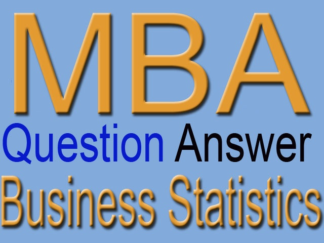 MBA 1st Year Business Statistics Unit 1 Short Question Answer Study Notes