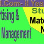 M Com 2nd Year Advertising Sales Management Study Material Notes