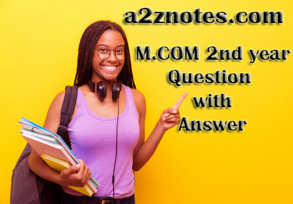 M Com 2nd Year International Marketing Practice Paper Question Answer