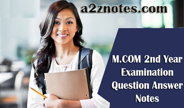 M.COM 2nd Year Advertising & Sales Management Sample Model Practice Question Answer Notes