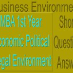 MBA 1st Year Economic Political Legal Environment Short Question Answer