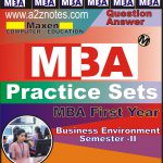 MBA 1st Year Business Environment Sample Model Practice Question Answer Papers