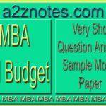 MBA Ad Budget Question Answer Sample Model Paper in English