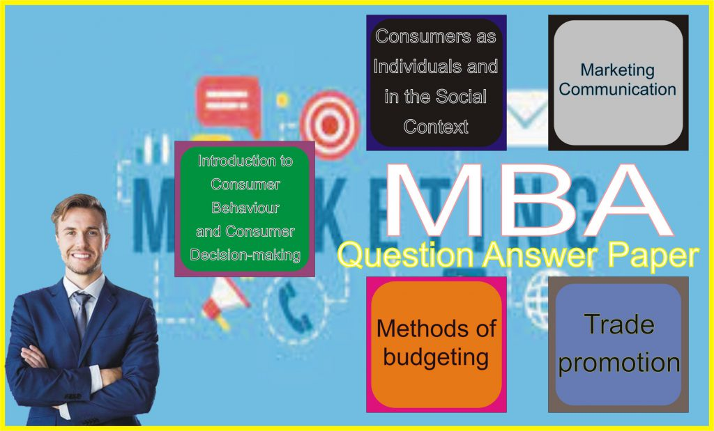 MBA Consumer Behaviour & Marketing Communication Practice Model Paper