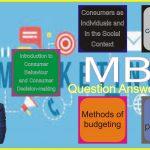 MBA Consumer Behaviour & Marketing Communication Practice Model Paper