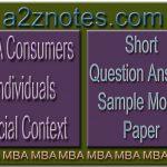 MBA Consumers Individuals Social Context Question Sample Model Paper