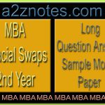 MBA Financial Swaps 2nd Year Long Sample Question Answer