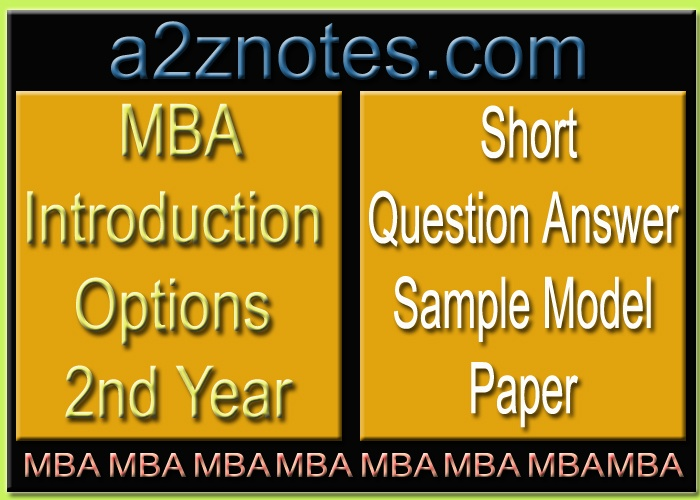 MBA Financial Swaps 2nd Year Short Sample Question Answer