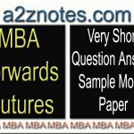 MBA Forwards Futures Very Short Sample Model Paper