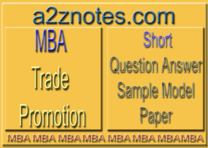 MBA Trade Promotion Short Sample Practice Set in English