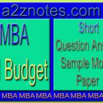 MBA Ad Budget Short Question Answer Sample in English